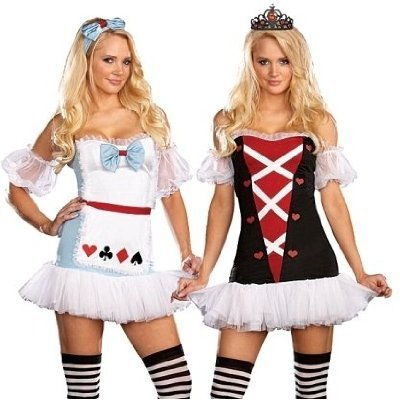 Dreamgirl Wonderland Tea for Two Reversible Costume (Stockings not included)