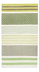 Vallila 60 x 90 cm 100 Percent Cotton Hermanni Runner Rug, Green from Vallila Interior