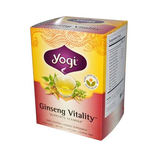Yogi Tea Ginseng Vitality - Supports Stamina - Caffeine Free - 16 Tea Bags