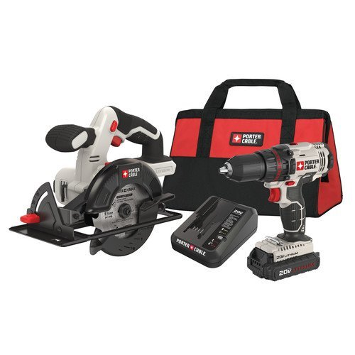 Factory-Reconditioned-Porter-Cable-PCCK612L2R-20V-MAX-Cordless-Lithium-Ion-12-in-Drill-5-12-in-Circular-Saw-Combo-Kit