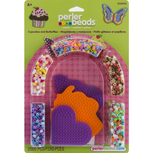 Perler Beads Cupcakes and Butterflies Fused Bead Kit - 1