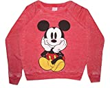 Disney Mickey Mouse Sitting Juniors Crewneck Long Sleeve Sweatshirt