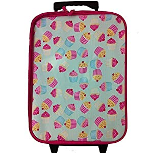 CUPCAKE CHILDRENS LUGGAGE SET (backpack school bag ruck sack rucksack)