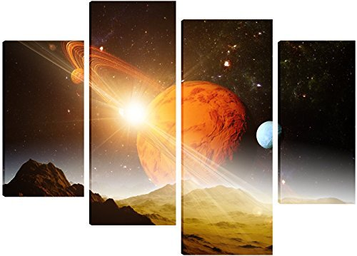jupiter-and-other-planets-in-deep-space-canvas-art-4-split-panel-design-71cm-x-101cm-free-hanging-ki