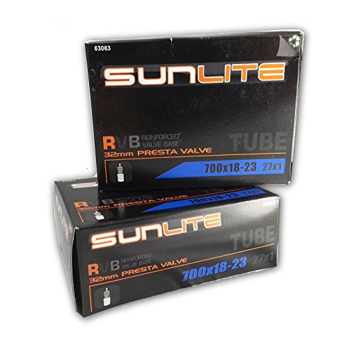 2 PACK - Tube, 700 x 18-23  32mm PRESTA, Sunlite Bicycles