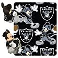 NFL Mickey Mouse Pillow with Fleece Throw Blanket Set
