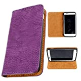 i-KitPit PU Leather Flip Case For Micromax Canvas EGO A113 (PURPLE)