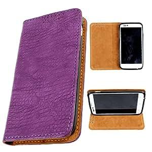 i-KitPit PU Leather Flip Case For Sony Xperia L (PURPLE)