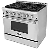 36 Inch Professional Style Gas Range with 6 Burners
