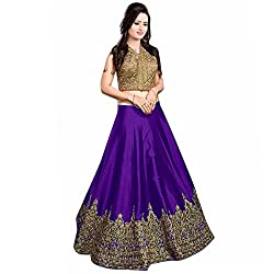 Pramukh Suppliers Women's Lehenga Choli Purple_