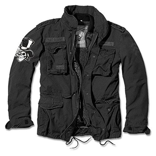 Uomini giacca invernale da uomo M65 Giant benzina sangue (con retro stampa) Nero  nero