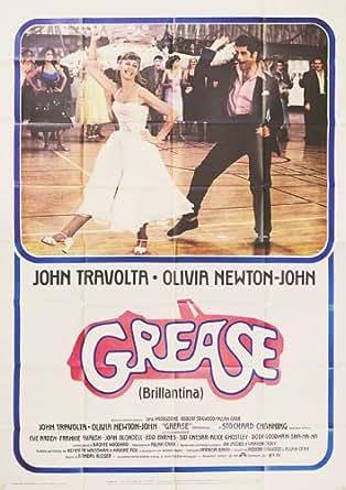 grease 1978 original italy quattro fogli movie poster