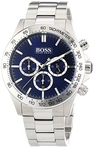 Hugo Boss  1512963 - Reloj de cuarzo para hombre, con correa de acero inoxidable, color plateado