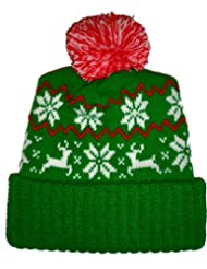 Reindeer Snowflake Winter Beanie Sweater