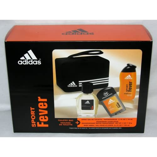 Amazon.com : Adidas Sport Fever 4 Piece Gift Set - Toiletry Bag, Spray