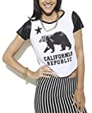 Wet Seal Women's California Leather Crop Top M White