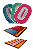 Online Quality Store Perfect Combo of 5 Door mats for different locations of a house (Multi, Cotton,16*24, Medium)