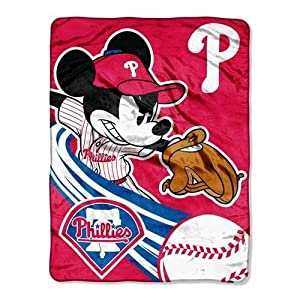 MLB Philadelphia Phillies 46x60-Inch Micro Raschel Throw by Disney