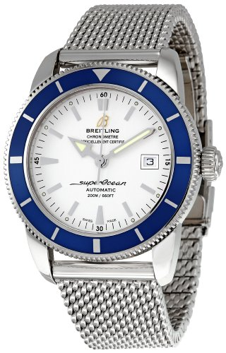 Breitling Men's A1732116/G717 SuperOcean Heritage Silver Dial Watch