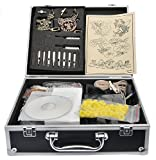 2 Guns Digital Tattoo Kit Machine Complete w/ LCD Power Supply, Needles, Ink, Grip Tube, and Case R02