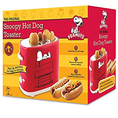 Smart Planet HDT1S Peanuts Snoopy Hot Dog Toaster, Red from Smart Planet