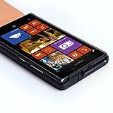 Nokia Lumia 925 Flip Case protezione eco pelle (Spedizione con Corriere Espresso) (Nero + Pellicola + Pennino)