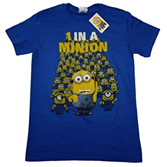 Official T Shirt DESPICABLE ME 2 Dave 1 in a Minion Blue S