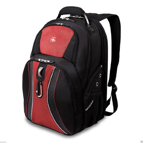 Green Ace Swissgear Scansmart 17'' Laptop / Notebook Backpack - Red
