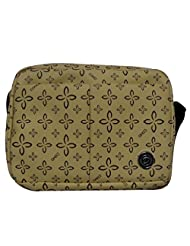 Donex Cream Color Printed Medium Size Sling Bag