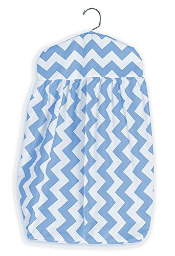 buy Baby Doll Bedding Chevron Diaper Stacker, Blue for sale