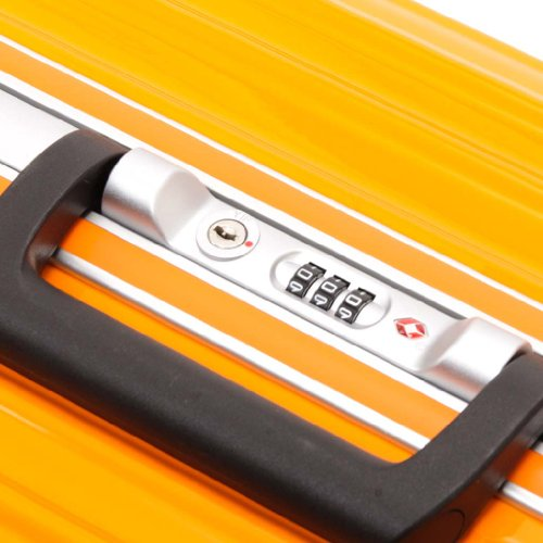 (ワールドスカイ) WORLD SKY AIR TRAVELER(エアートラベラー) スーツケース AT-63-009 ORANGE(シトラスオレンジ) Mサイズ(63cm)/約65L [並行輸入品]