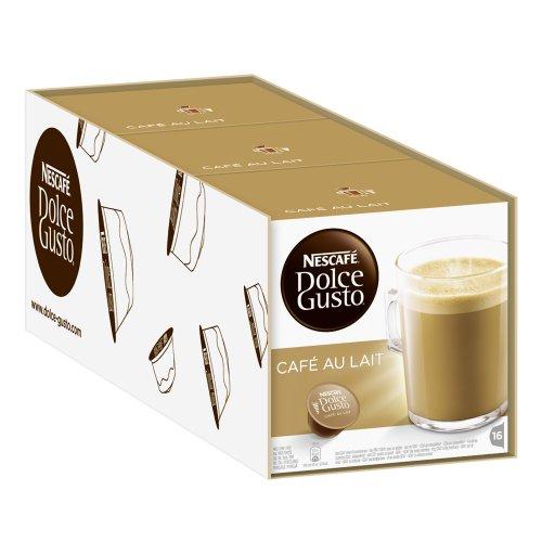 Get Nescafé Dolce Gusto Café au lait, Pack of 3, 3 x 16 Capsules from Nestlé