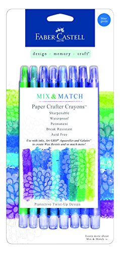 Faber-Castell FBR770521 FaberCastell Paper Crafter Mix & Match Crayon Set - Blue & Green
