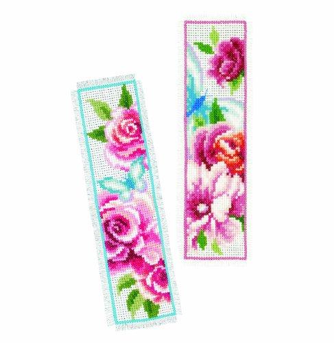 Vervaco kit per segnalibro a punto croce motivo fiori for Punto croce fiori e farfalle