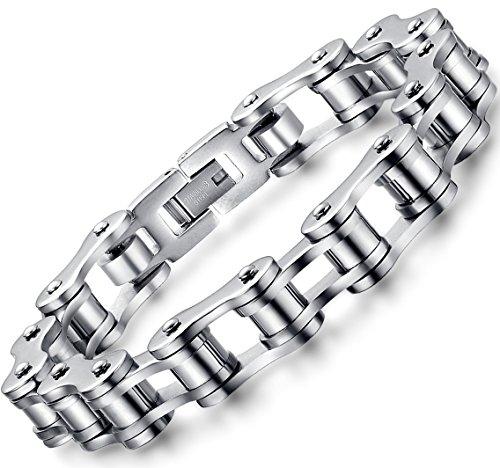 ostan-uomo-gioielli-acciaio-inossidabile-bracciale-braccialetto-collegamento-polso-argento