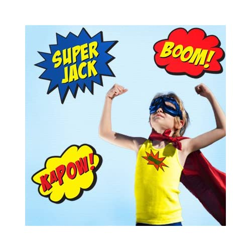 Super Hero Wall Decal Stickers for Boys Rooms & Birthday Party