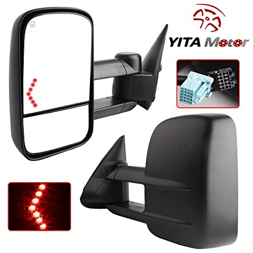 YITAMOTOR Chevy Towing Mirrors Chevrolet Silverado Side Mirror GMC Sierra Tow Mirrors Pair For 2003-2007 Power Heated With Arrow Signal Light (2003 Chevy Tow Mirrors compare prices)