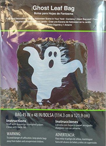 Halloween Ghost Leaf Bag - 1