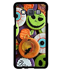 printtech Halloween Candy Sweets Back Case Cover for Samsung Galaxy A3::Samsung Galaxy A3 A300F