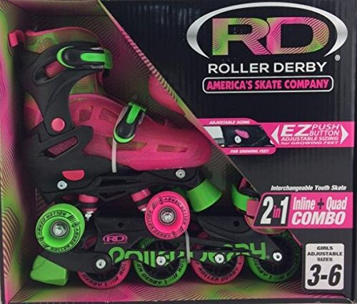 Roller-Derby-Girls-Roller-Skate-2-N-1-Inline-Quad-Combo-Youth-Skate
