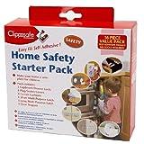 Clippasafe - Juego de accesorios de seguridad autoadhesivos para bebés (16 piezas)