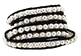 Long Stackable Freshwater Cultured Pearls Beaded Wrap Bracelet, 40 Inches