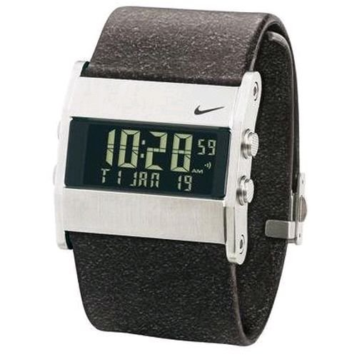 Nike Men's WA0038-213 Oregon Series Square Digital Leather Watch