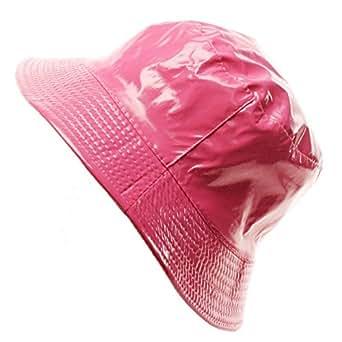 Ladies Girls Rain Resistant Bell Bucket Foldable Travel Cap Hat Cap Pink 56cm