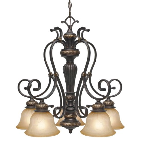 Amazing Compare ue ue Golden Lighting DEB Chandelier with Antique Marble Glass Shades Etruscan Bronze Finish