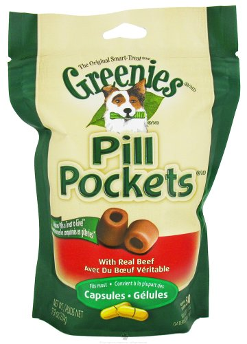 Greenies Pill Pockets, Beef, 7.9 oz, for Capsules