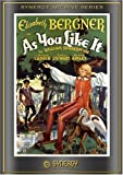 Cover art for  As You Like It (1936)