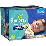 Pampers Baby Dry Extra Protection Diapers Super Pack, Size 5, 66 Count (Packaging May Vary)
