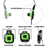 GOgroove BlueVIBE CFT Stereo Bluetooth Receiver and Sports Earphones with Handsfree Microphone and Onboard Controls - Works With Smartphones Tablets MP3 Players and More
