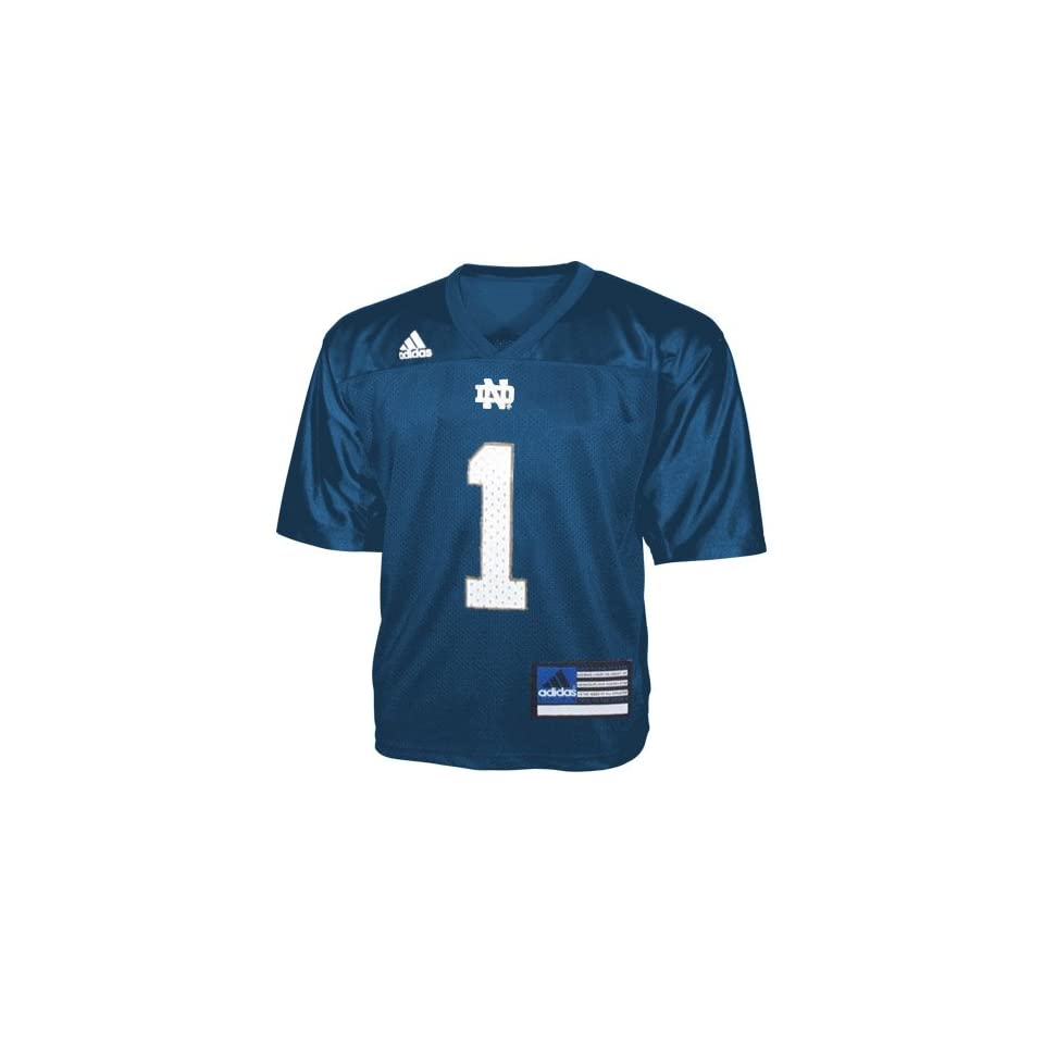 Adidas Notre Dame Fighting Irish #1 Navy Infant Replica Football Jersey